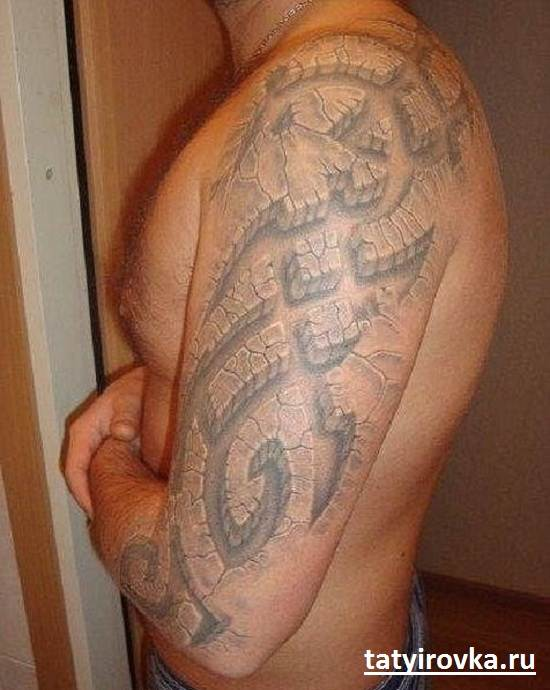 Черно-белые-татуировки-и-их-значение-6