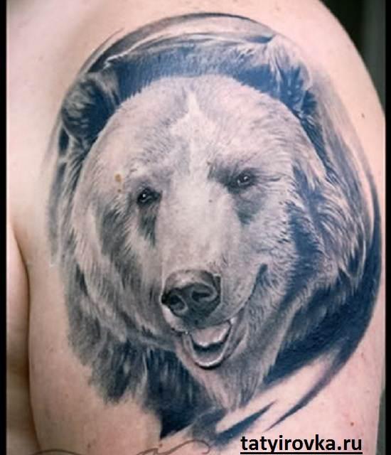 Тату-медведь-и-их-значение-8