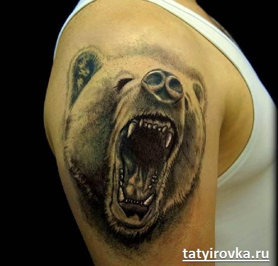 Тату-медведь-и-их-значение-7