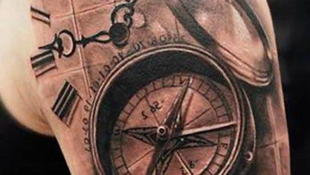 Тату компас и их значение