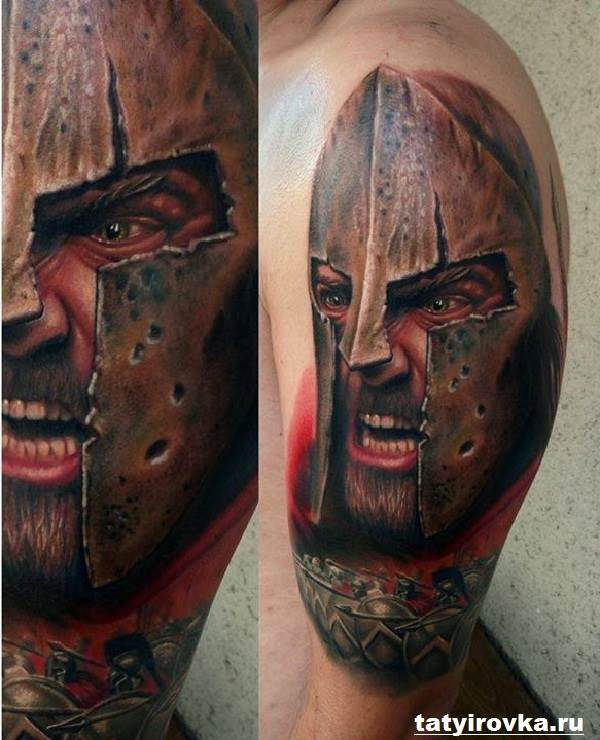 Тату-спартанец-Значение-тату-спартанец-Эскизы-и-фото-тату-спартанец-8